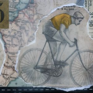 Yellow Jersey | Amelia Kraemer | Encaustic Mixed Media | 6x12