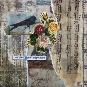 See Possibility Everywhere | Amelia Kraemer | Encaustic Mixed Media | 6x6