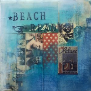 Beach Ready | Amelia Kraemer | Encaustic Mixed Media | 6x6