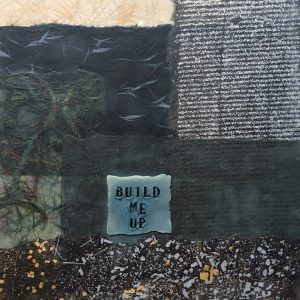 Build Me Up | Amelia Kraemer | Encaustic Collage | 10x8