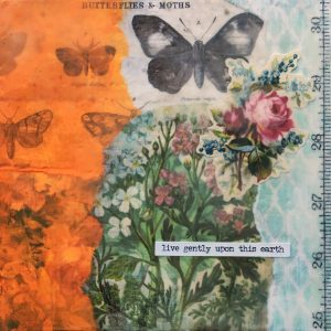 Live Gently Upon This Earth | Amelia Kraemer | Encaustic Mixed Media