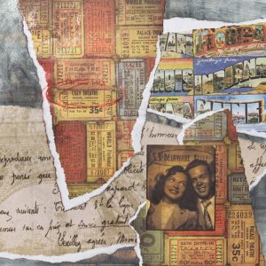 Cozy Theatre | Amelia Kraemer | Encaustic Mixed Media | 6x6