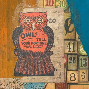 Owl Tell Your Fortune | Amelia Kraemer | Encaustic Mixed Media | 6x6