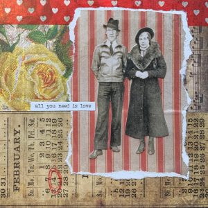 All You Need is Love | Amelia Kraemer | Encaustic Mixed Media | 6x6