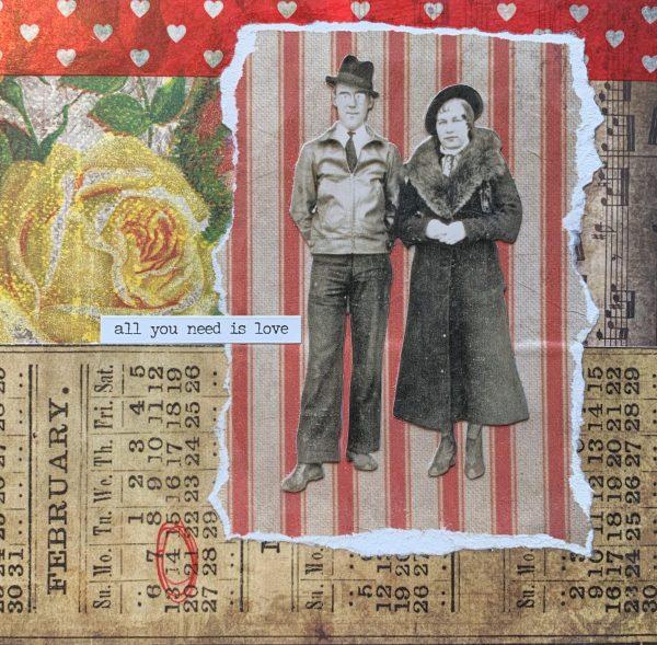 All You Need is Love | Amelia Kraemer | Encaustic Mixed Media | 6x6