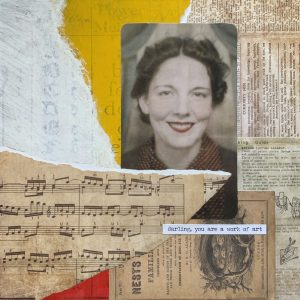 Darling, You Are a Work of Art | Amelia Kraemer | Encaustic Mixed Media