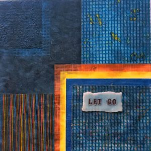 Let Go | Amelia Kraemer | Encaustic Collage | 8x8