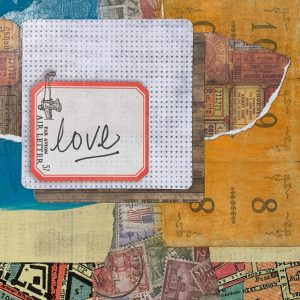 Love | Amelia Kraemer | Encaustic Mixed Media | 6x6