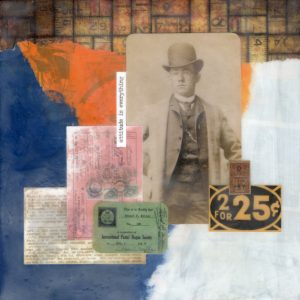 Attitude Is Everything | Amelia Kraemer | Encaustic Mixed Media | 8x8