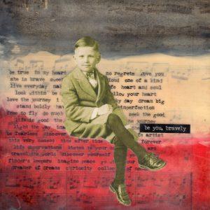 Be You Bravely | Amelia Kraemer | Encaustic Mixed Media | 6x6