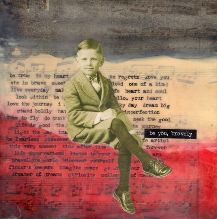 Be You Bravely | Amelia Kraemer | Encaustic Mixed Media | 6x6
