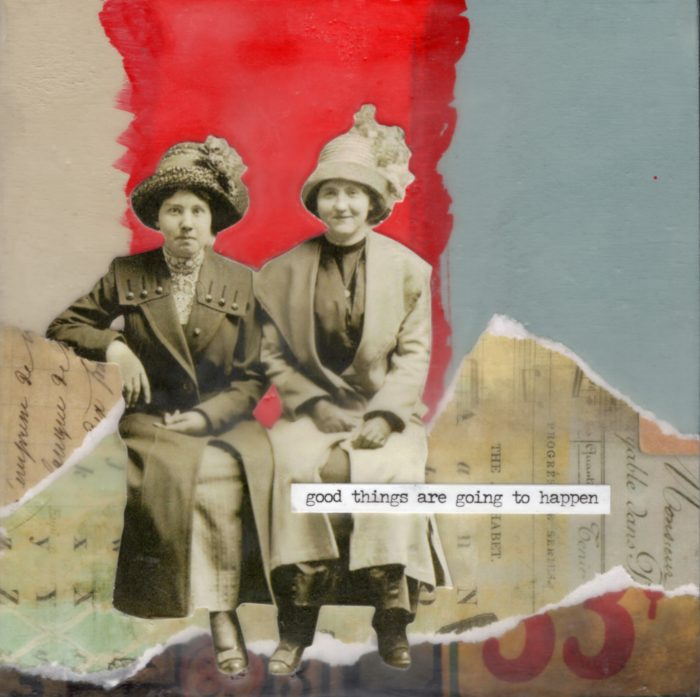 Good Things Are Going To Happen | Amelia Kraemer | Encaustic Mixed Media | 6x6