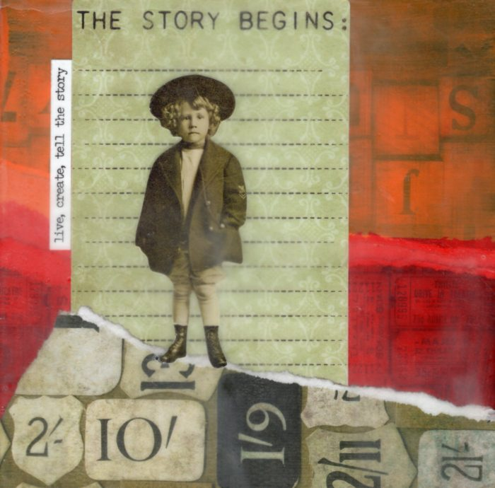 Live Create Tell The Story | Amelia Kraemer | Encaustic Mixed Media | 6x6