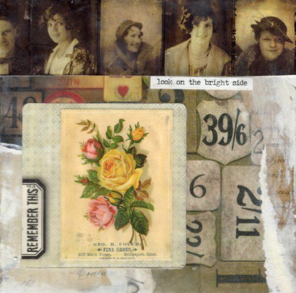 Look On The Bright Side | Amelia Kraemer | Encaustic Mixed Media | 6x6