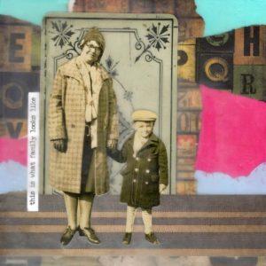 This Is What Family Looks Like | Amelia Kraemer | Encaustic Mixed Media | 6x6