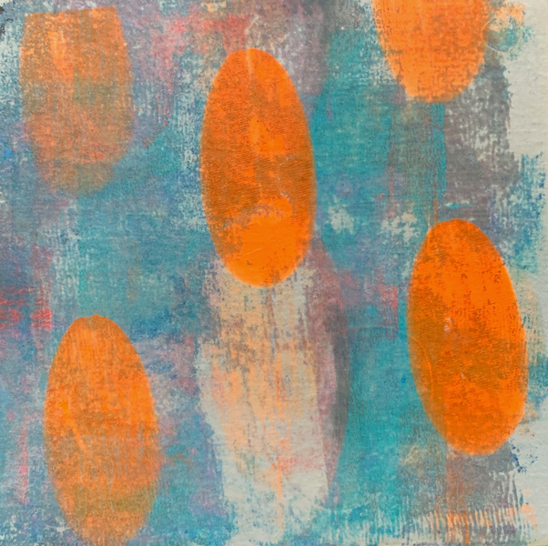 Baby I Like Your Style | Amelia Kraemer | Cold Wax Mixed Media Monoprint | 6x6