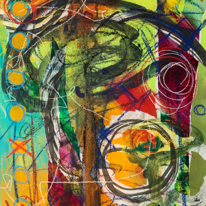 There Are Moments That Cry Out To Be Fulfilled | Amelia Kraemer | Mixed Media | 20x16
