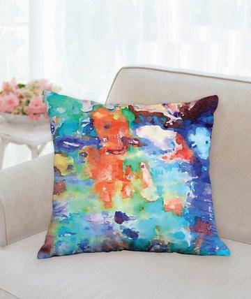 "Walking In A Floral Water Garden Pillow 18""x18"""