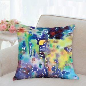 """Colourful Water Garden Pillow 18""""x18"""""""