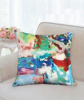 "Bright Water Gardens Pillow 18""x18"""