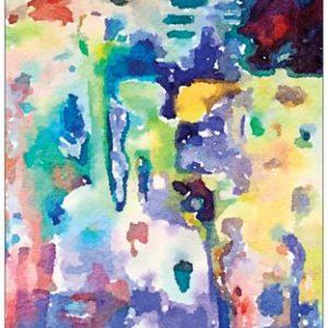 Colourful Water Garden - Card